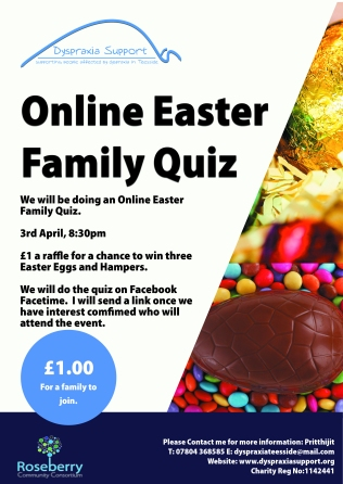 Dyspraxia Online Easter Family Quiz