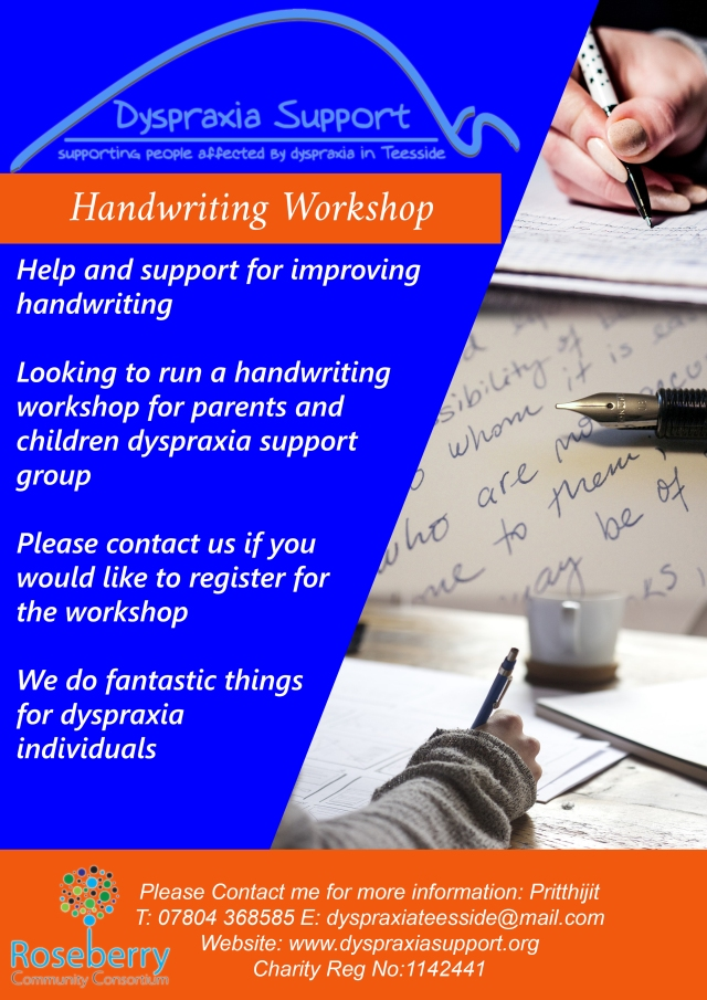 dyspraxia support group handwriting poster (1)