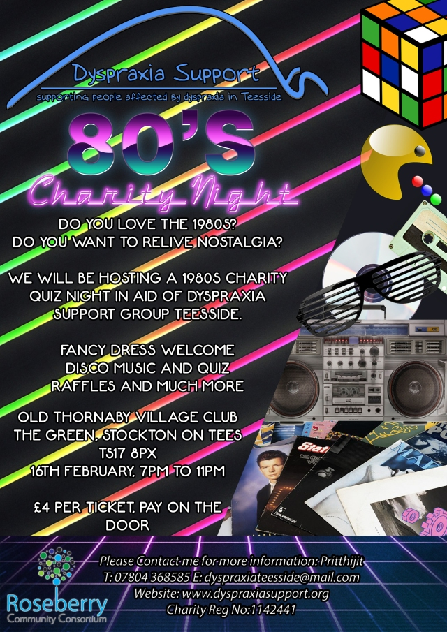 Dyspraxia Support Teesside 80's Charity Night Poster (1).jpg