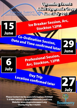 dyspraxia upcoming events June July