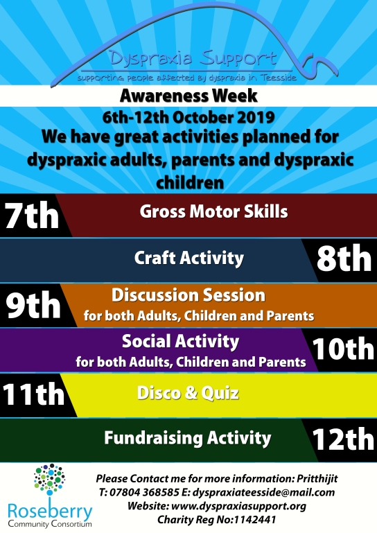 Dyspraxia Awareness Week October