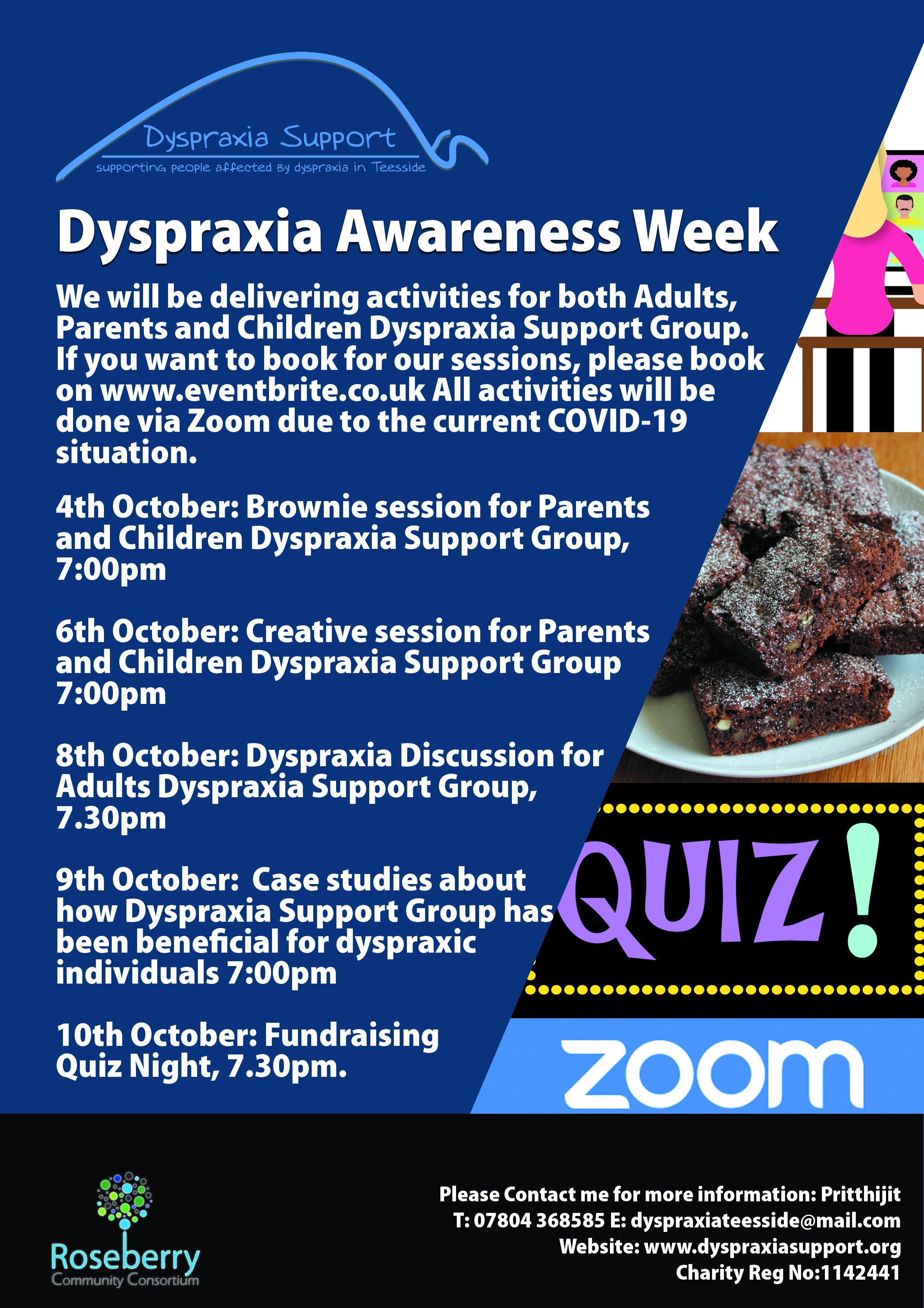 Dyspraxia Awareness Week Poster 2020